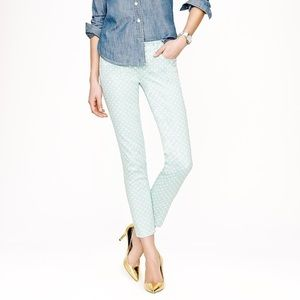 J. Crew Cropped Matchstick pants with polka dots